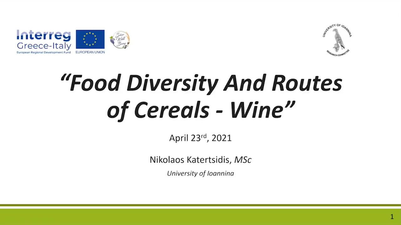 Food Diversity And Routes of Cereals / Wine